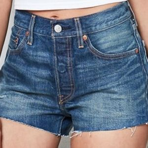 Levi's 501 Denim Shorts Button Fly NWT